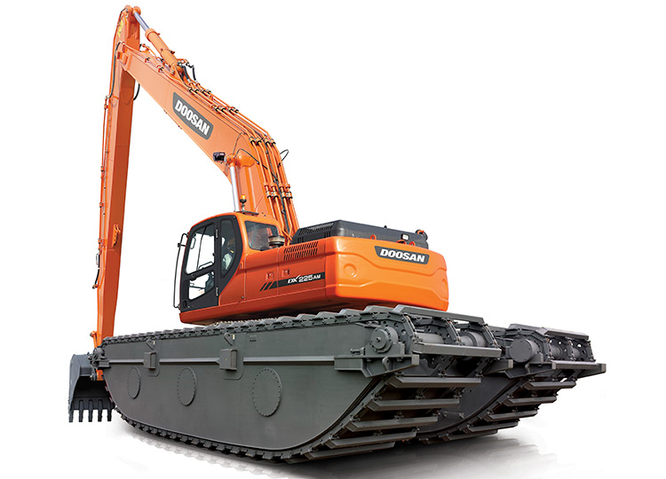 Экскаватор-амфибия Doosan DX140AM SLR