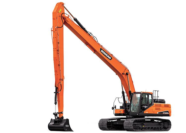 Doosan DX520LCA SLR с большим радиусом работ