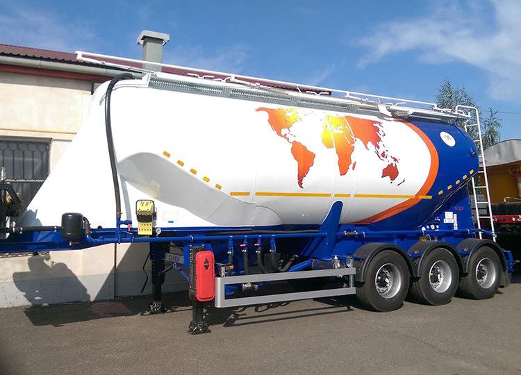 Полуприцепы Guven для пищевых сыпучих грузов